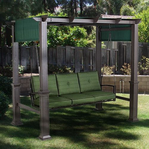 outdoor patio pergola swing replacement canopy garden. Black Bedroom Furniture Sets. Home Design Ideas