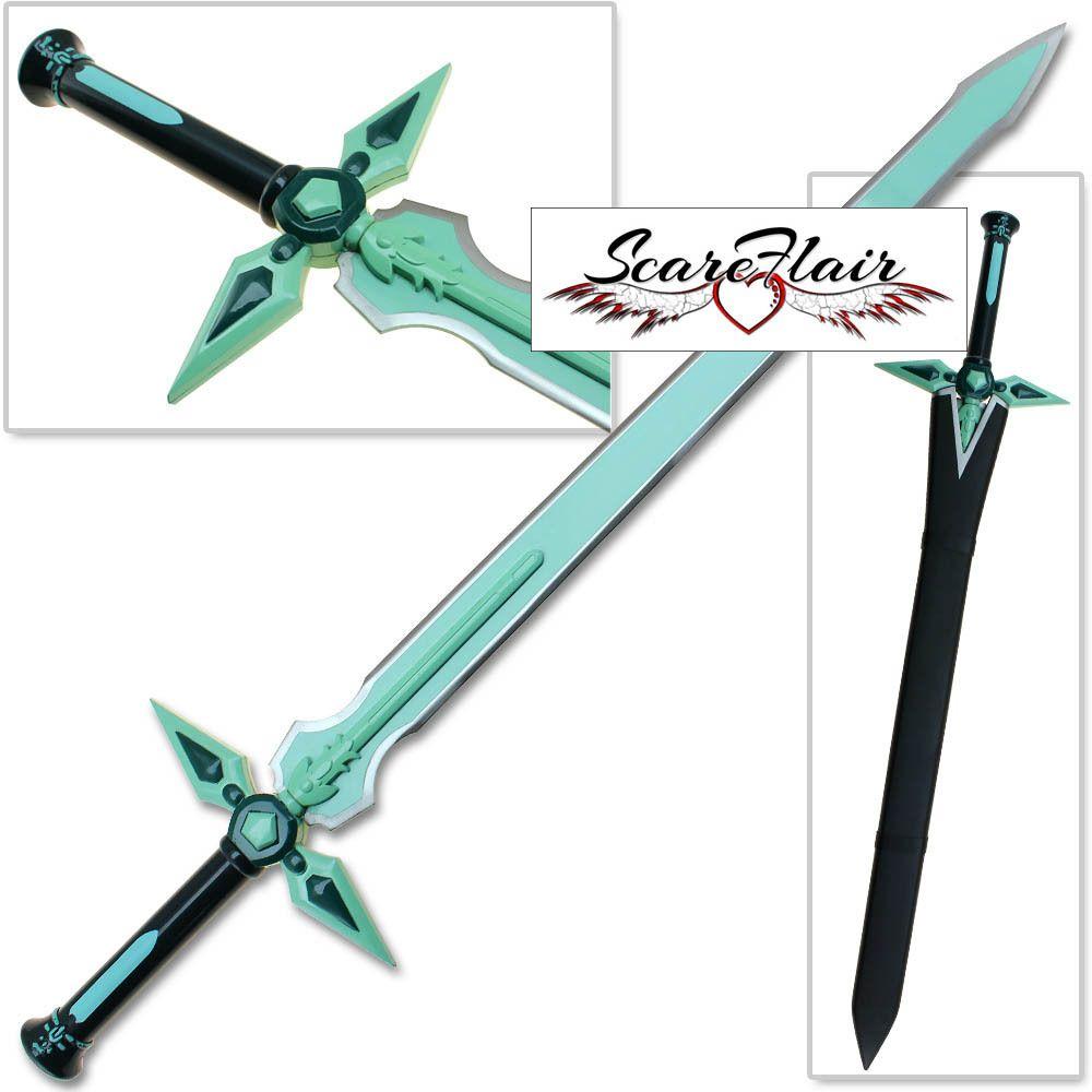 Dark Repulser Kirito Anime Sword Art Online Blue SAO Gem Turquoise Steel Blade