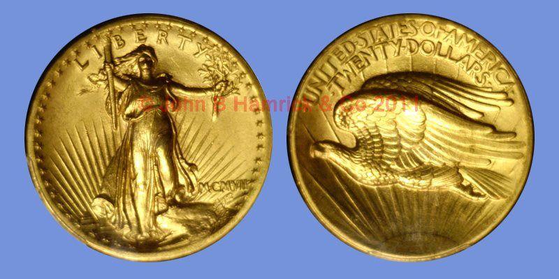 John B. Hamrick has this item on Collectors Corner - 1907 $20 High Relief-Wire Edge MS63 PCGS