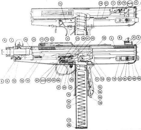 Thompson Smg Diagram Google Search Weapons Firearms