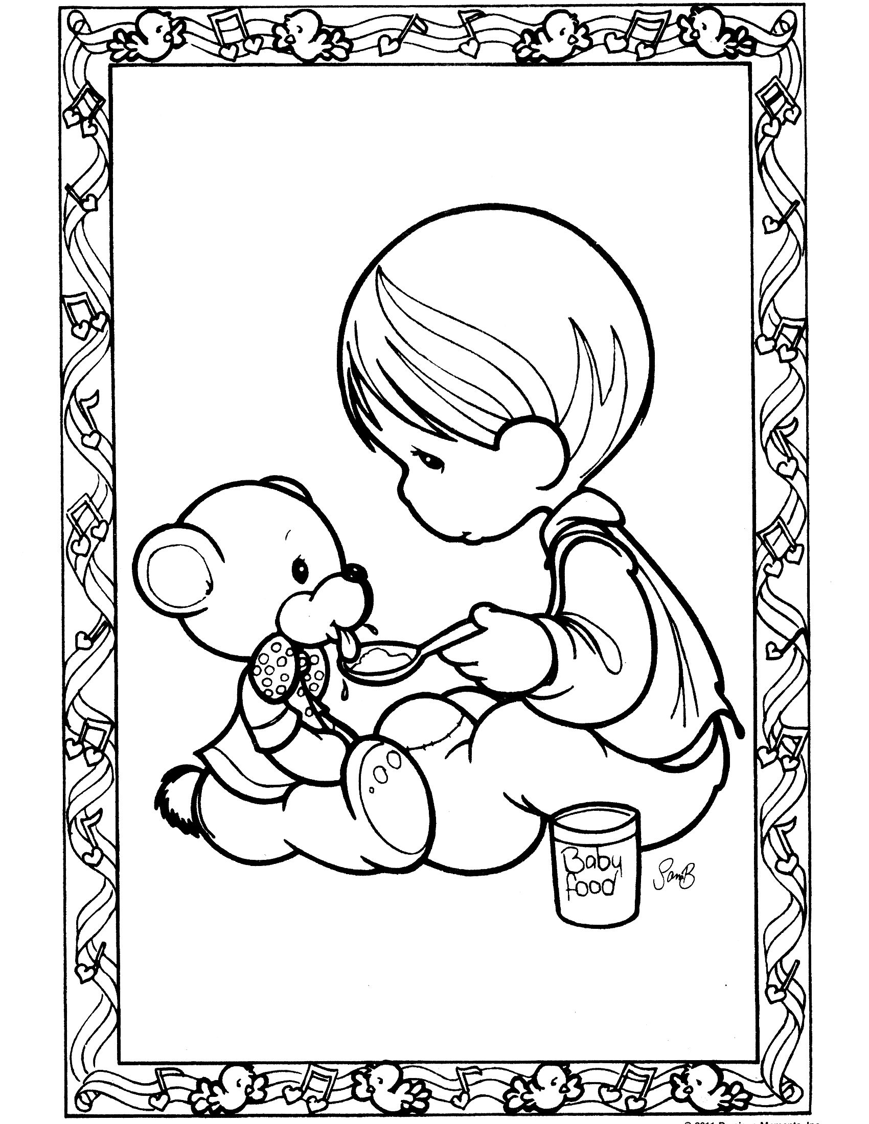 precious moments coloring page 16 | Coloring Pages * Precious ...