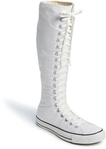 Necesario péndulo Celda de poder  These are going to be my wedding shoes😍 | Converse boots, Knee high  sneakers, Boots