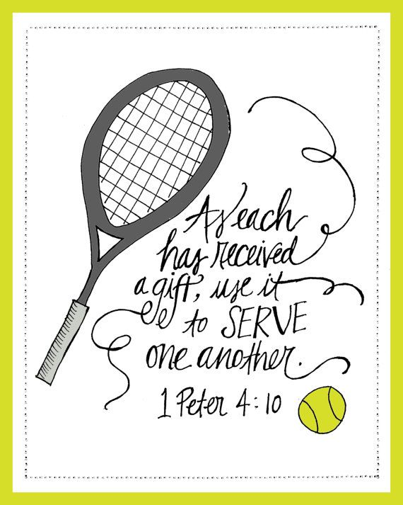 Tennis Scripture Printable Tennis Quotes Pinterest Tennis