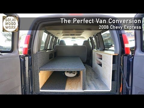 3 The Perfect Van Conversion With Collapsable Bed And Kitchen Area Youtube Van Conversion Chevy Express Van Conversion Layout