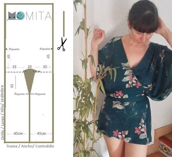 patron kimono facil | Costura | Pinterest | Patrones kimonos ...