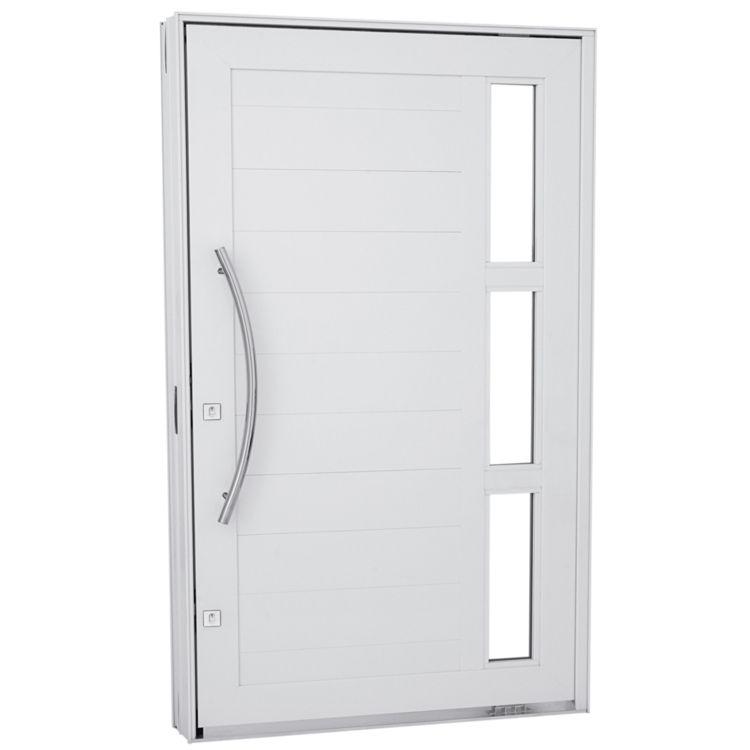 Compre Porta Pivotante Em Alum Nio Lambris Horizontais