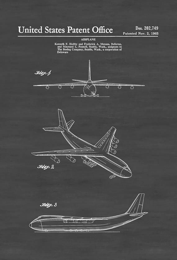 Boeing cargo airplane patent airplane blueprint aircraft decor airplane poster vintage aviation art airplane art boeing patent