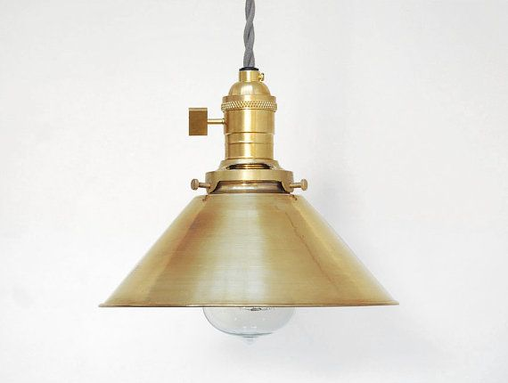 Industrial Pendant Light - Brass Pendant Light - Modern Pendant