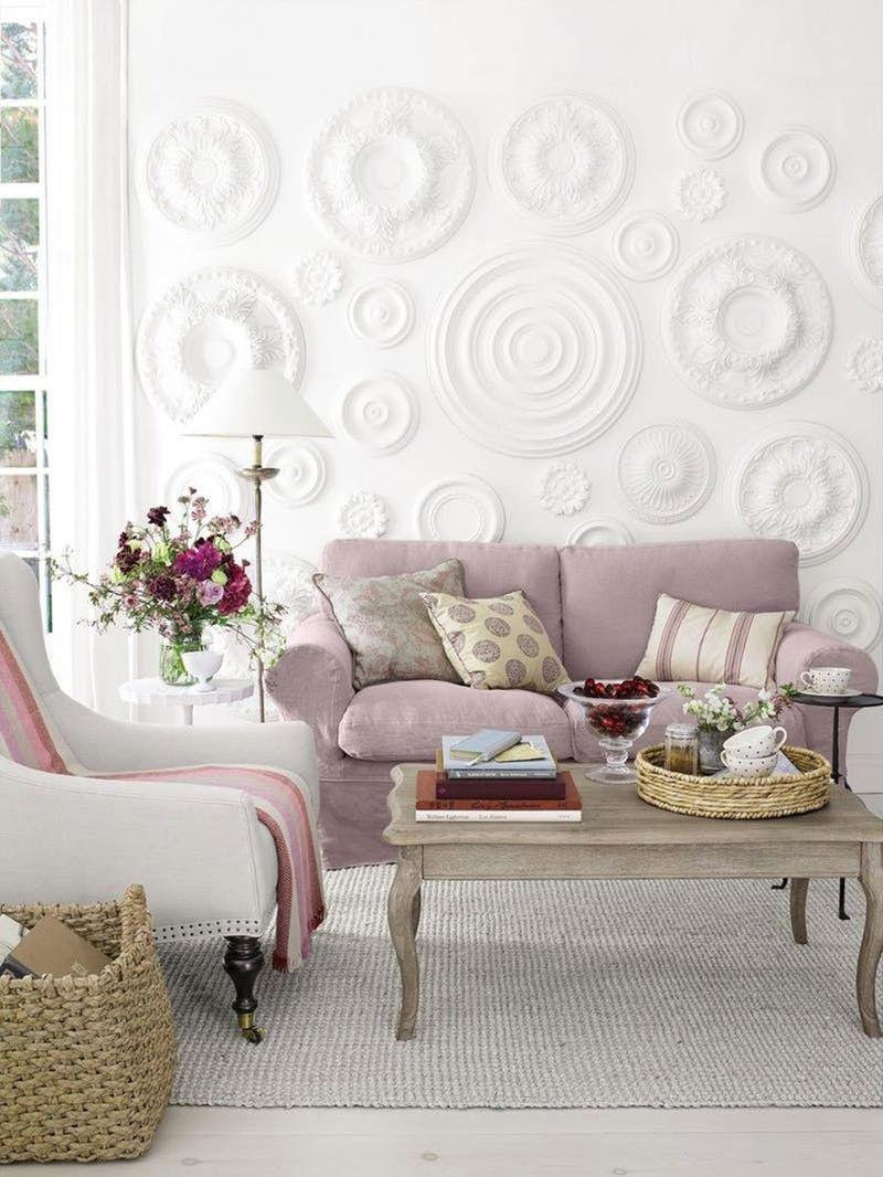 12 Unique Creative Ideas For Ceiling Medallions Knockoffdecor Com Wall Decor Living Room Room Wall Decor Decor