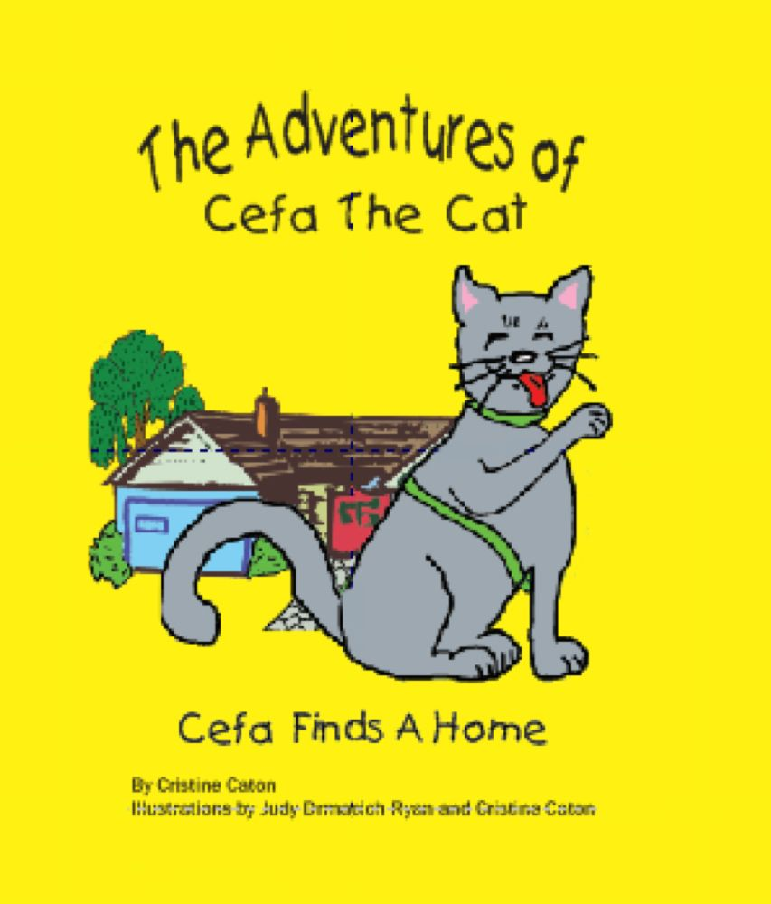 My name is Cefa and I am a Russian blue cat. This book is