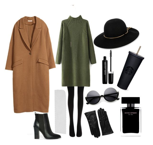 """""""Untitled #13"""" by mary-bondar ❤ liked on Polyvore featuring Wolford, Lipstik, French Connection, H&M, Topanga, Lanvin, Saks Fifth Avenue Collection, Narciso Rodriguez and Marc Jacobs"""