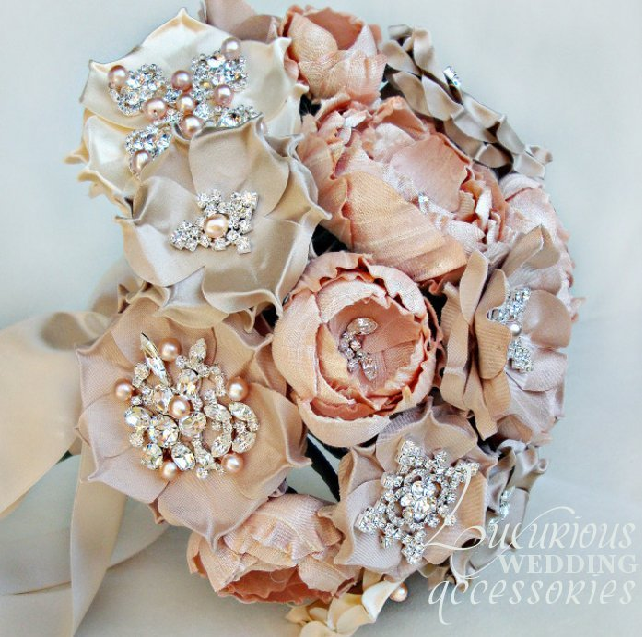 Fabric Flower Wedding Bouquet Tutorial: Beautiful Silk Bridal Bouquet