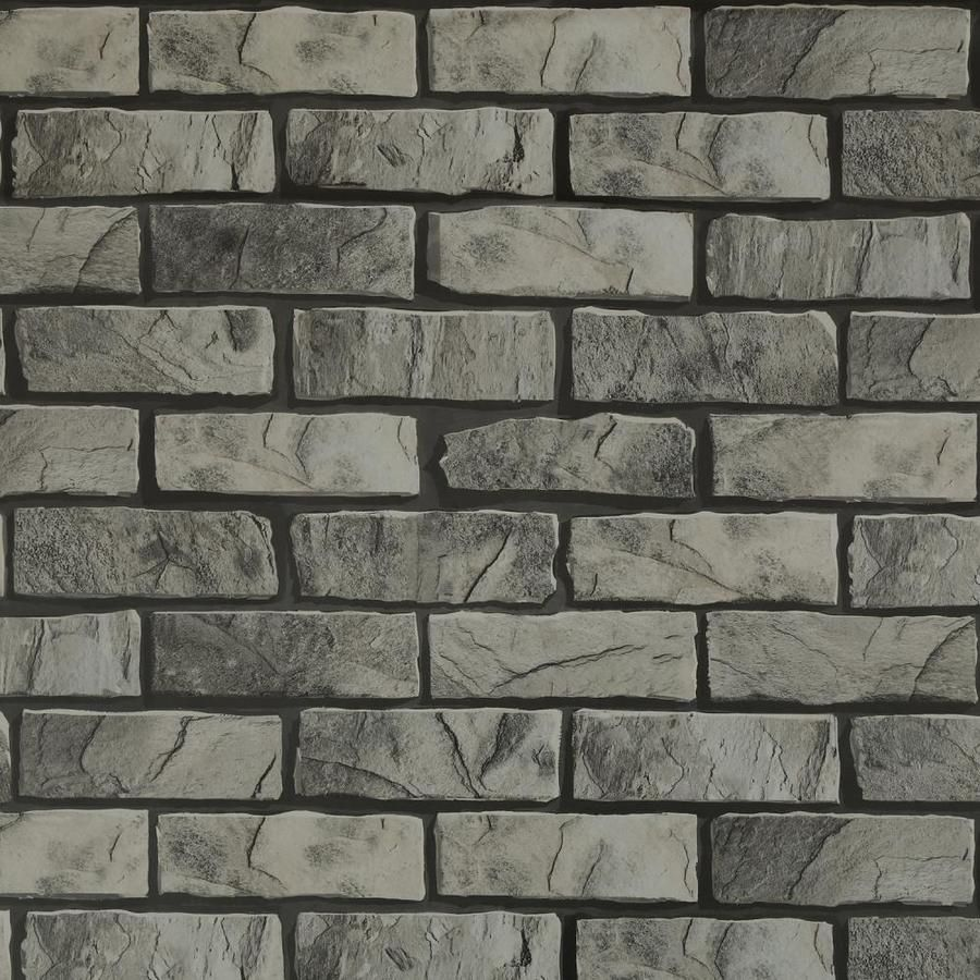 Dundee Deco Falkirk Mcgowen 35 5 Sq Ft Beige Grey Vinyl Paintable Textured Brick Self Adhesive Peel And Stick Wallpaper Lowes Com Grey Brick Dundee Faux Brick