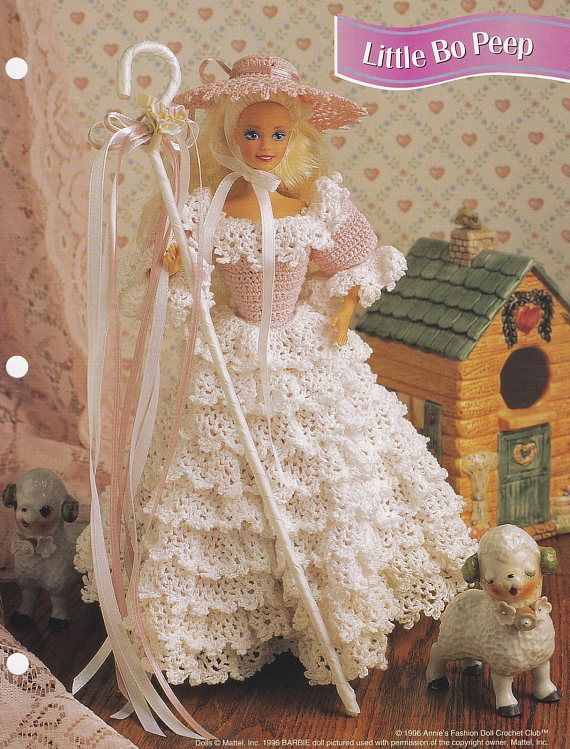 Little Bo Peep, Annie\'s Attic Crochet Fashion Doll Clothes Pattern ...