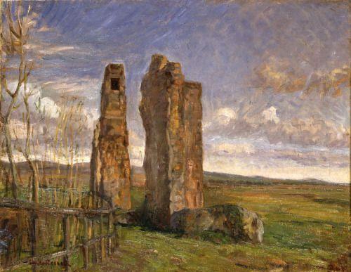 """Ruins in Campagna"" (1904) by Albert Gottschalk, who was born June 3rd, 1866."