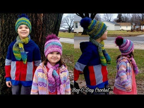 32c255a3373 How To Crochet Easy Kids Hat and Keyhole Scarf
