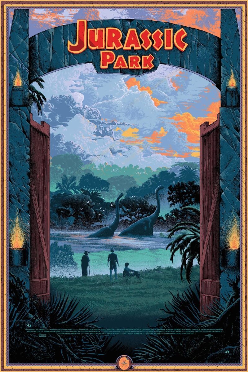 These Jurassic Park Posters Are as Beautiful as the Movie Itself #jurassicparkworld