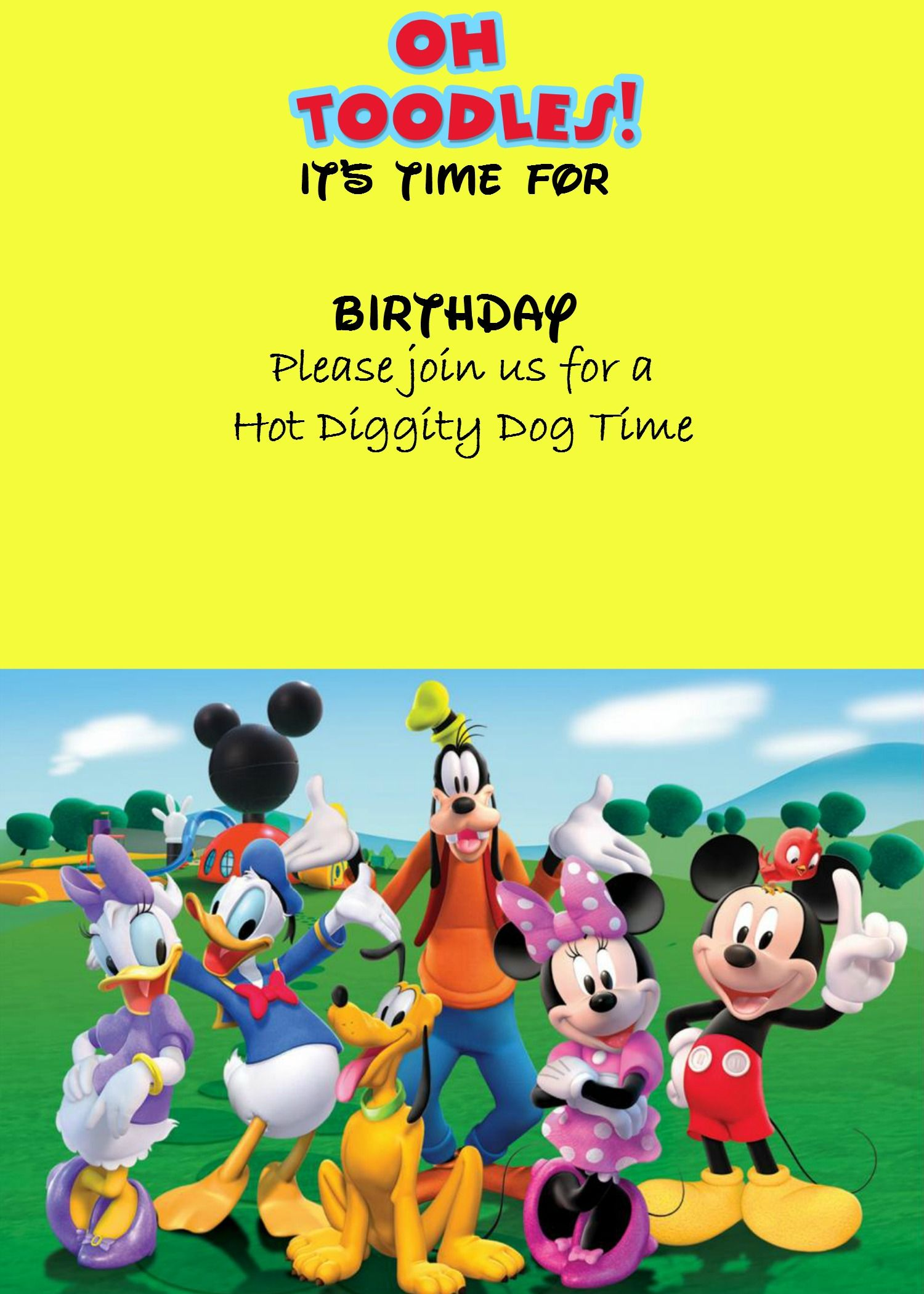 Free Mickey Mouse Digital Invitation Mickey Mouse Clubhouse