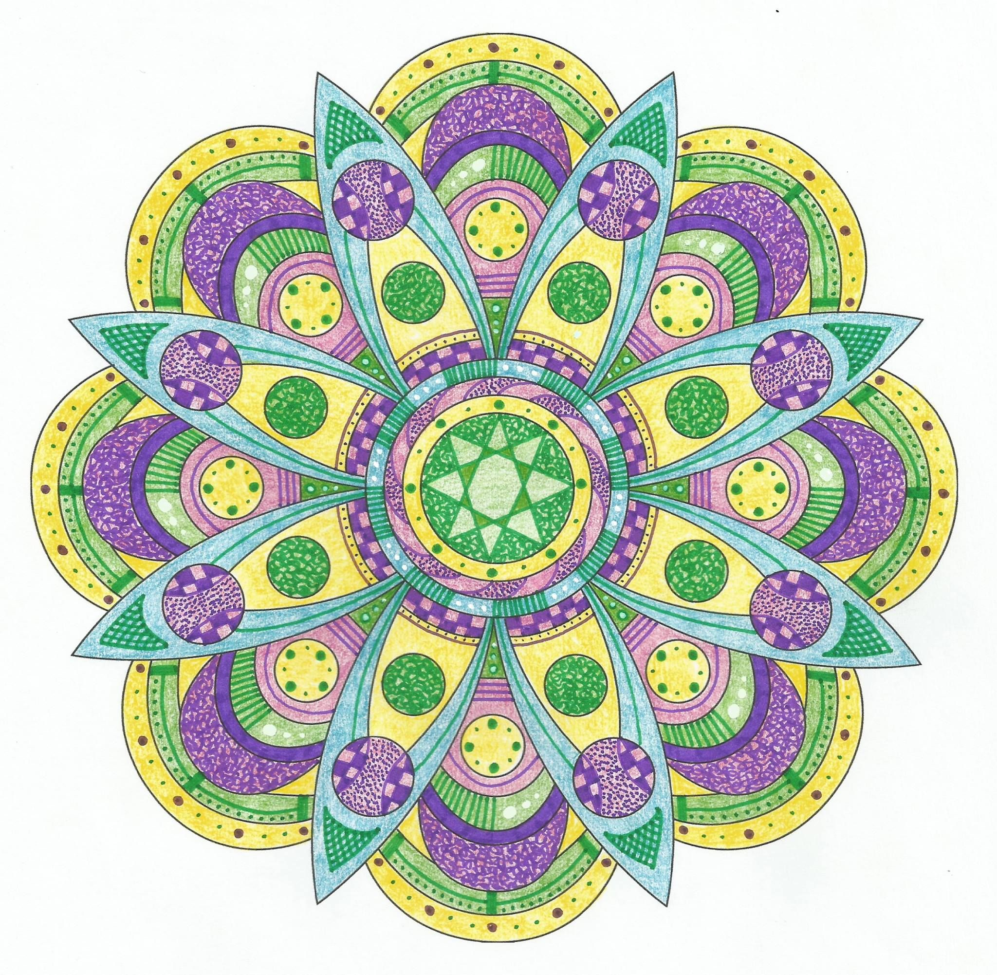 This is Groove It colored by Lois S. One of 100+ printable mandalas ...