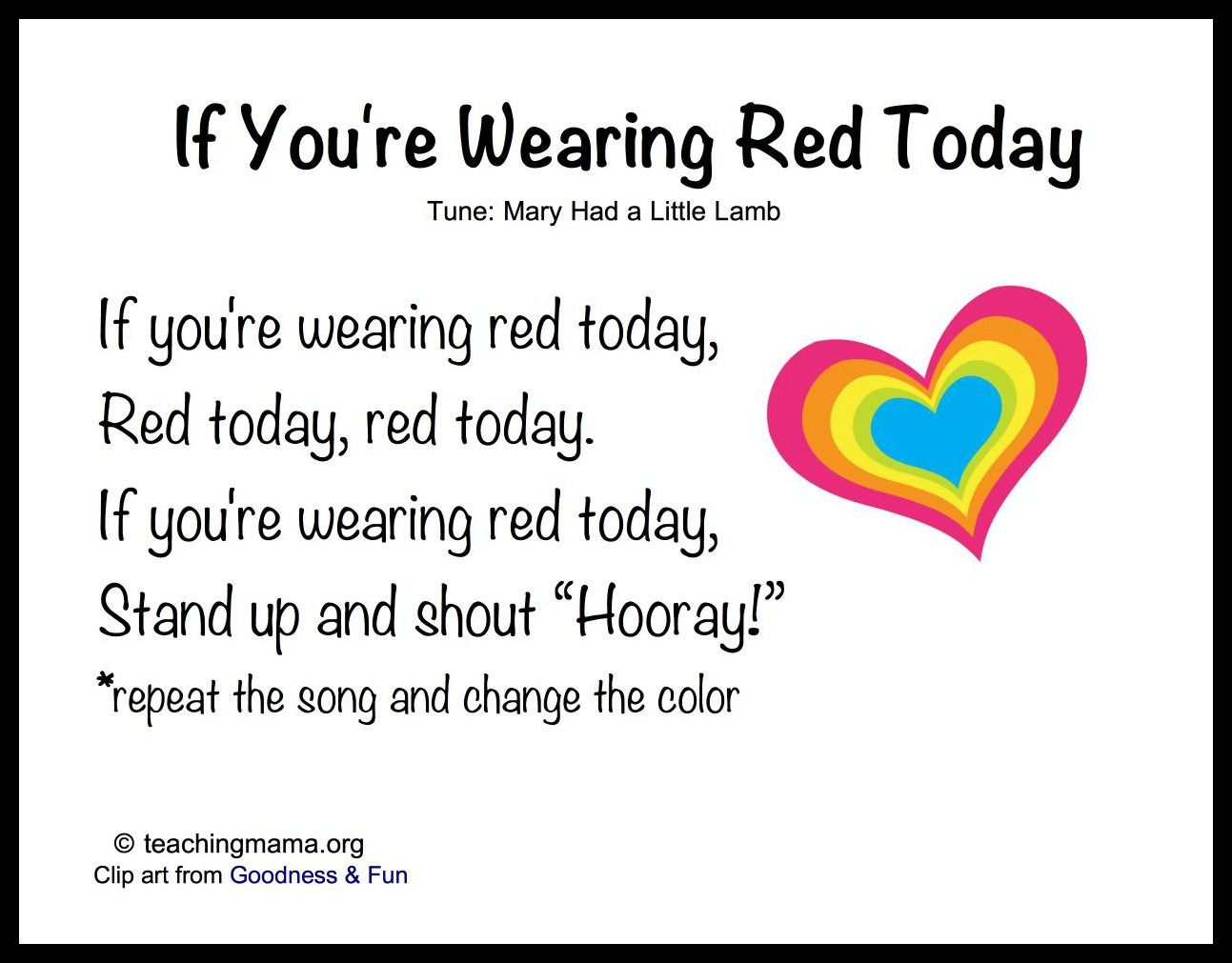 8 songs to begin a preschool day sensory story time pinterest welcome songs if youre wearing red today preschool colors preschool transition songs m4hsunfo