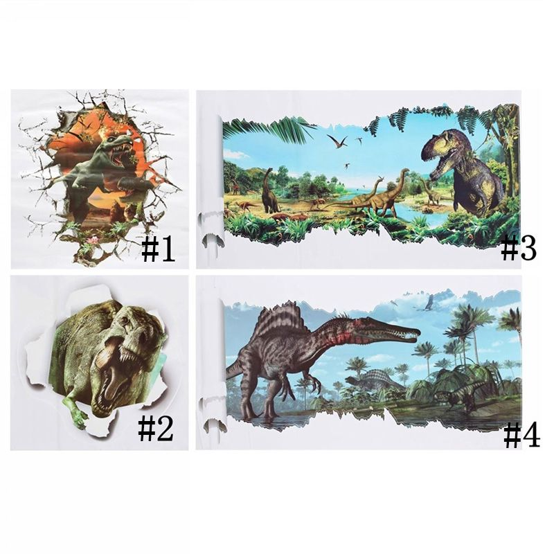 dinosaurs wall stickers jurassic park home decoration diy cartoon living room animals print decals mural art poster  affiliate also rh pinterest