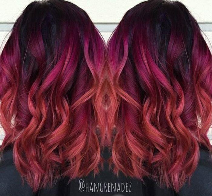 1001 Idees Pour Obtenir La Couleur De Cheveux Rouge Bordeaux Hair Styles Red Ombre Hair Sunset Hair