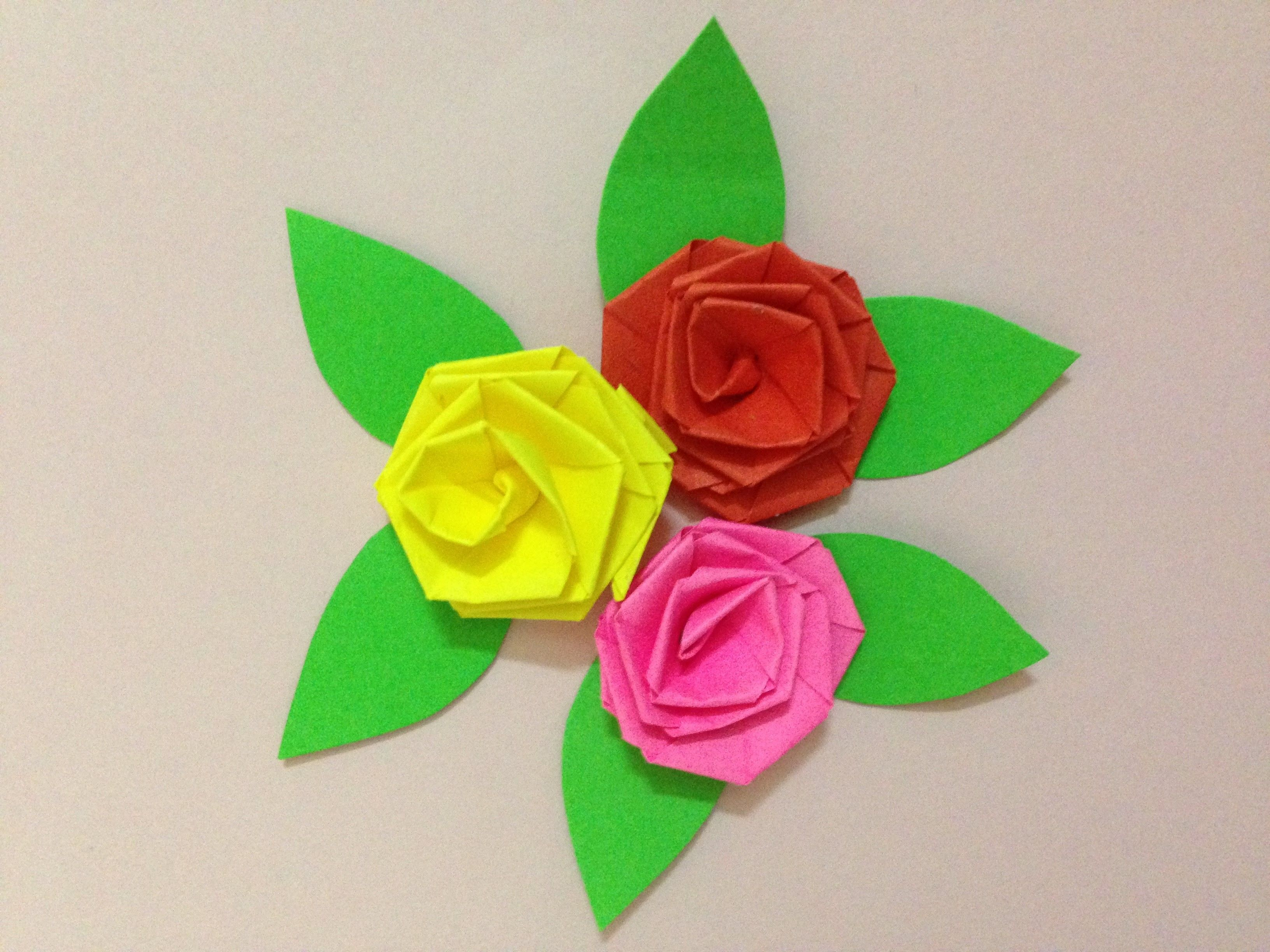 How To Make Small Rose Paper Flower Easy Origami Flower Diy Paper