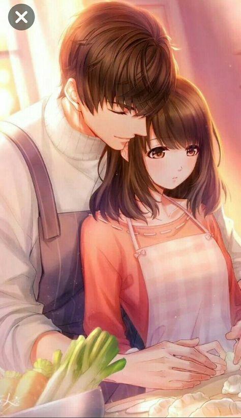 Anime Couple Fanart : anime, couple, fanart, Romantic, Anime, Couples, Fanart, Wallpaper