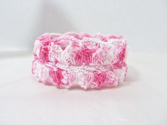 Crochet Bangle Bracelet by GnGHandmade on Etsy, $13.00