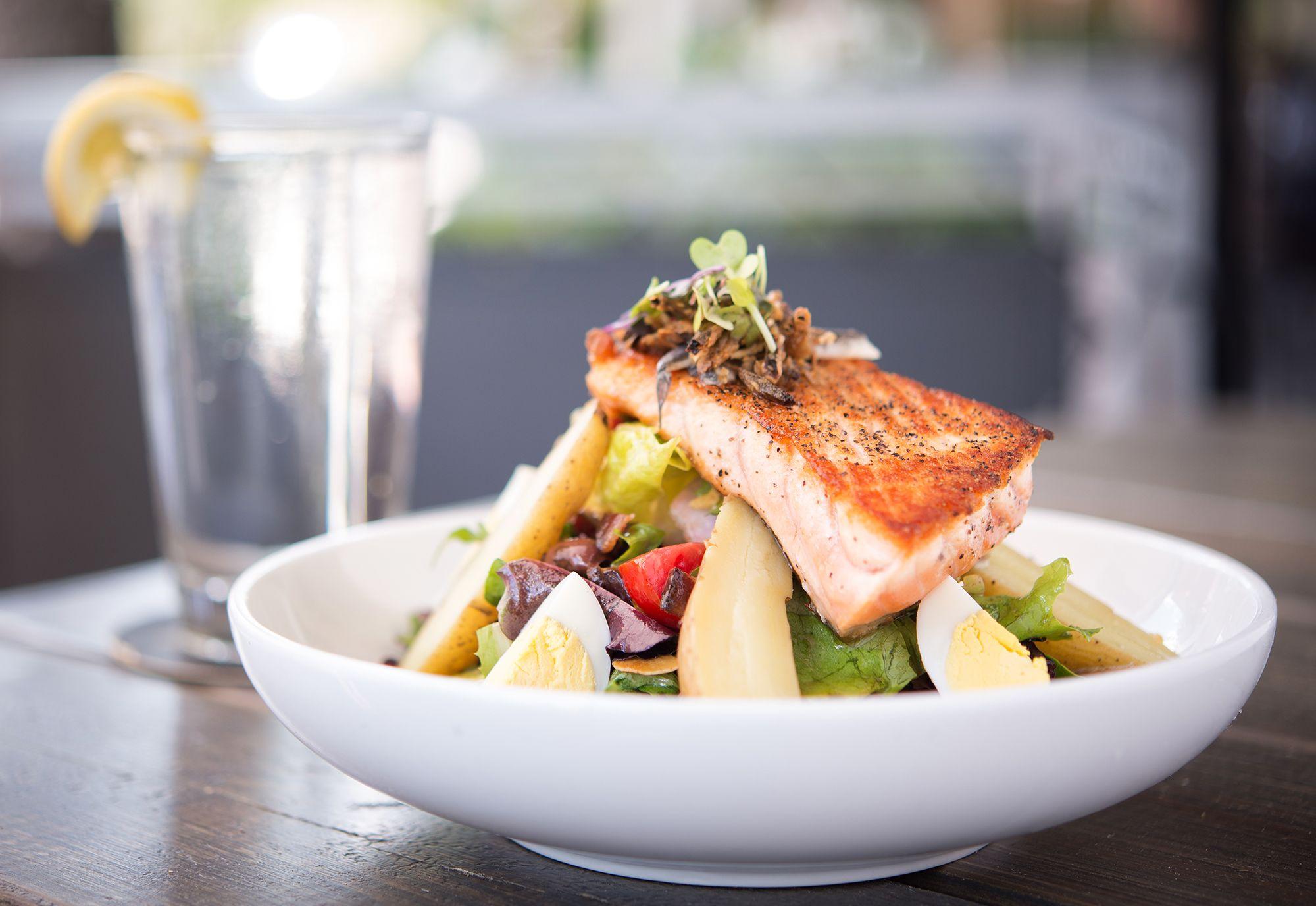 Salmon Nicoise Salad At Piquant