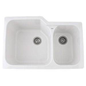 Download Wallpaper White Undermount Kitchen Sink Double Bowl