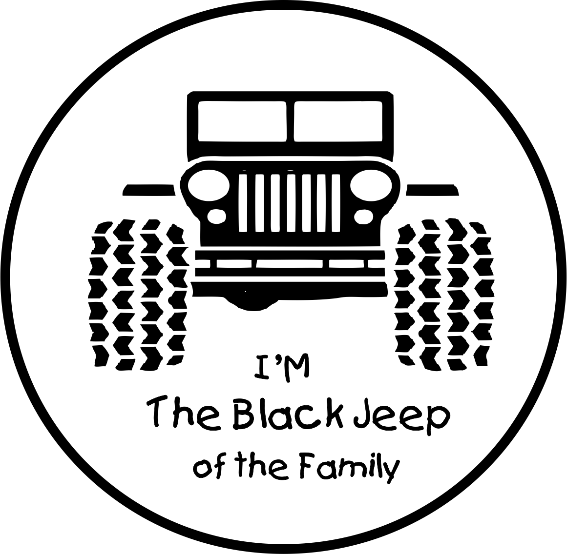 I M The Black Jeep Of The Family Jeep Black Jeep Jeep Stickers