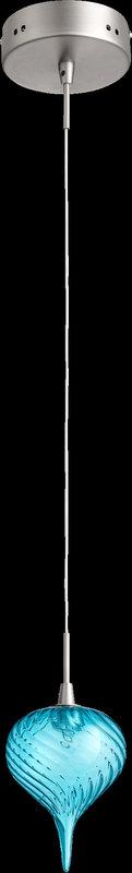 View the Quorum International 1355 1 Light Mini Pendant with Glass Teardrop Shade at LightingDirect.com.
