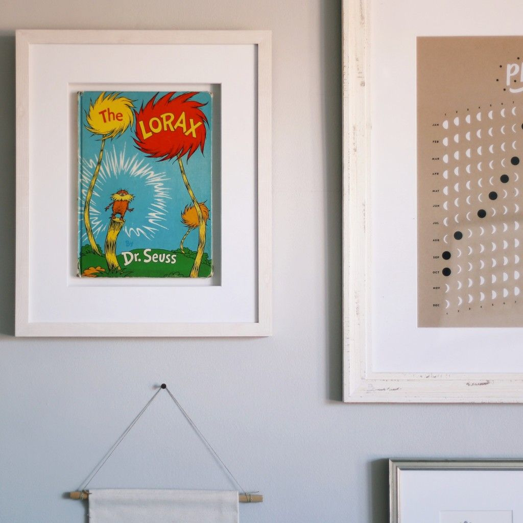 Dr Seuss Book Float Mounted In Our Irvine Slim Frame