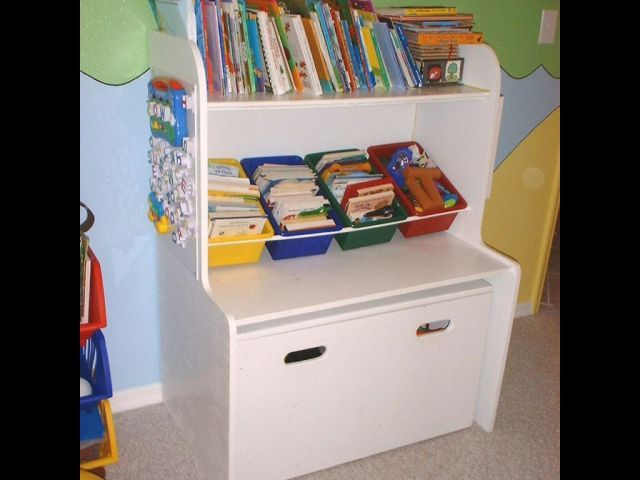Large New Wooden Storage Box Diy Crates Toy Boxes Set: Creation: Toybox And Shelf/desk For Kids