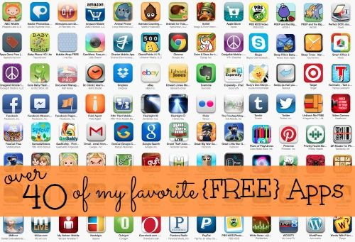 40 Favorite Free Apps from Simple Organized Living App