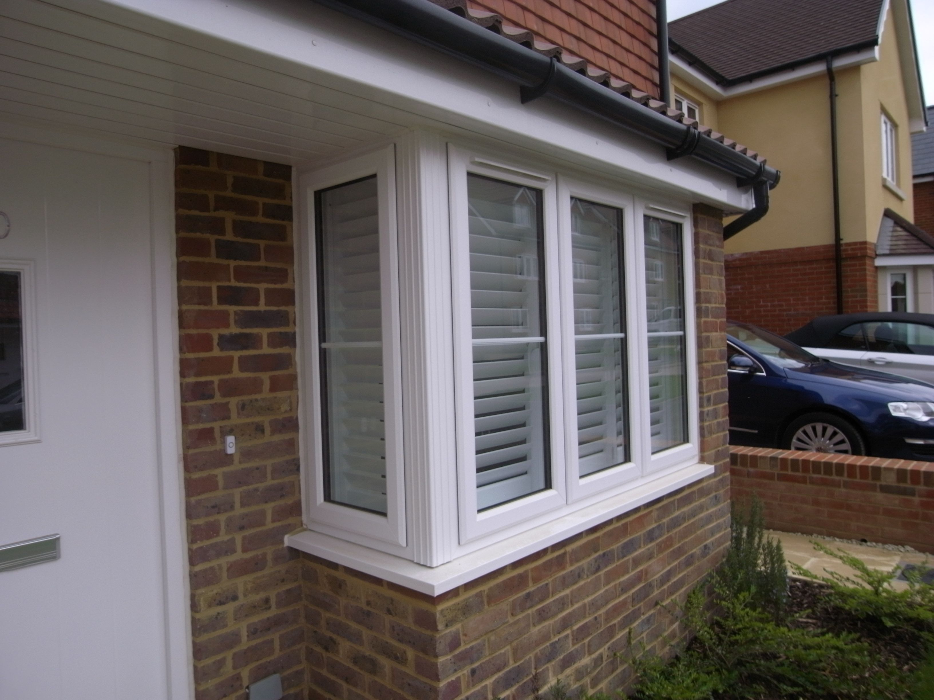 Square Bay Window Shutter 4 Panels Liphook