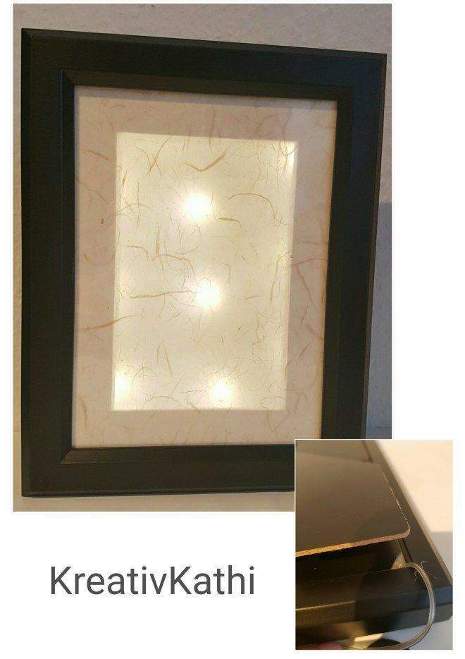 Neuer Rahmen mit Beleuchtung – Kathi\'s Blog   Kreativität/ Basteln ...