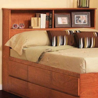 Gothic Furniture Bookcase Headboard Finish: Espresso, Size: Queen