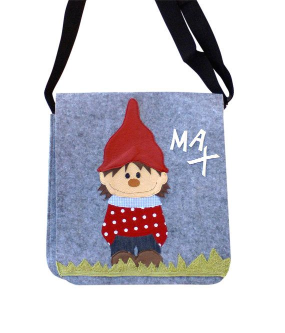Kindergardenbag little gnome, kinderbag gnome, kids bag gnome, children bag gnome, boys bag, girls bag, feltbag, felt, gnome on Etsy, £26.75