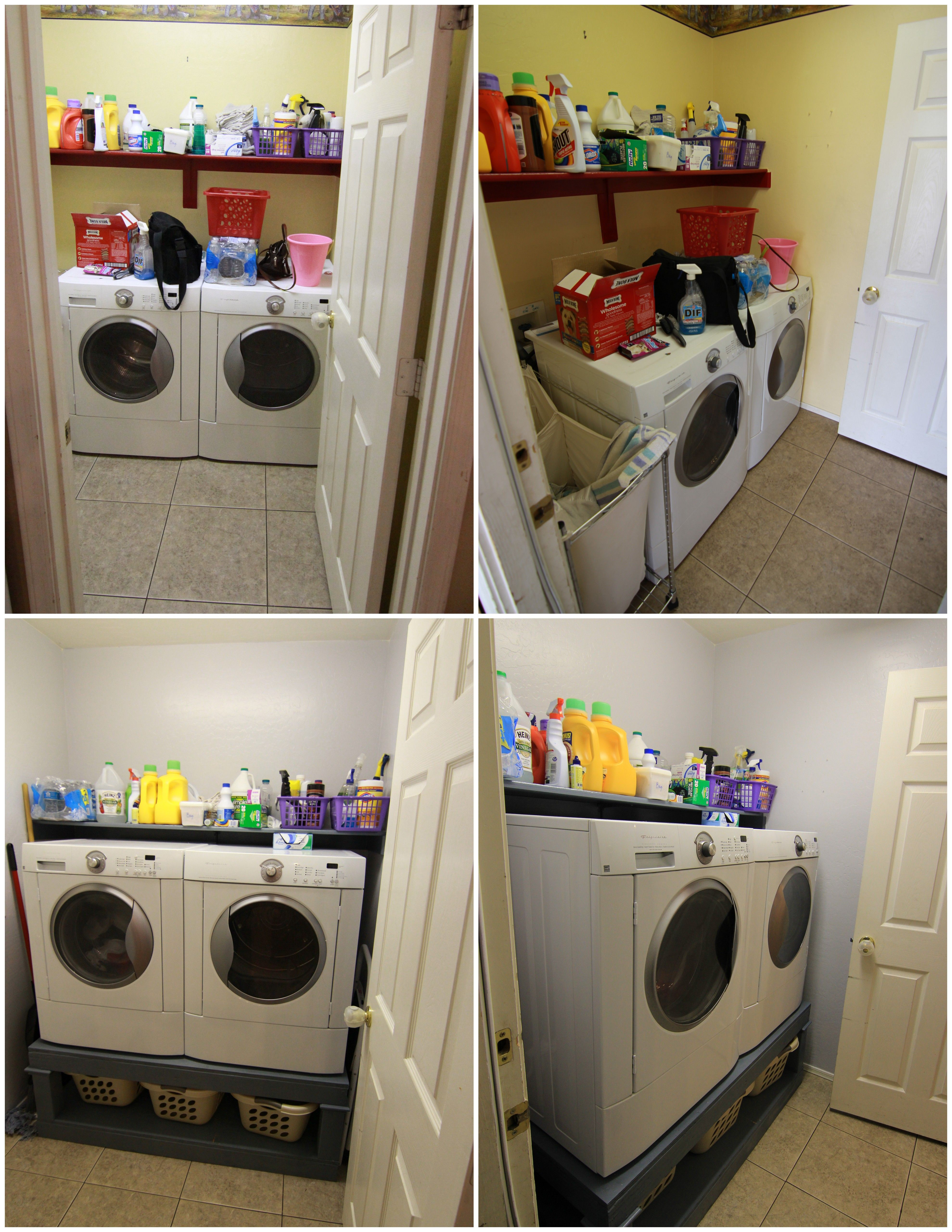 Washer Dryer Shelf Diy Washer And Dryer Pedestal My Style Pinterest