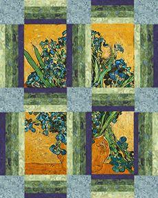 The Cotton Club Wild Iris Quilt Pattern With Vincent Van