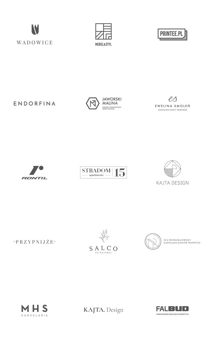 Logos designed by Łobzowska Studio.