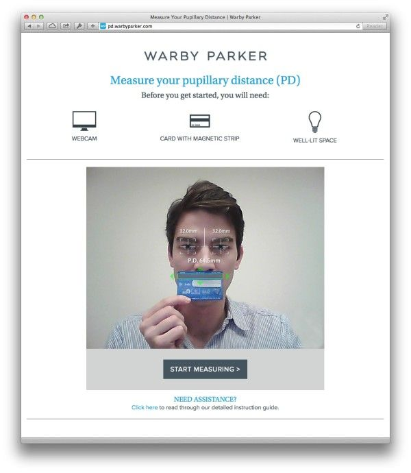Warby Parker Review Pupillary Distance Measurement Eye
