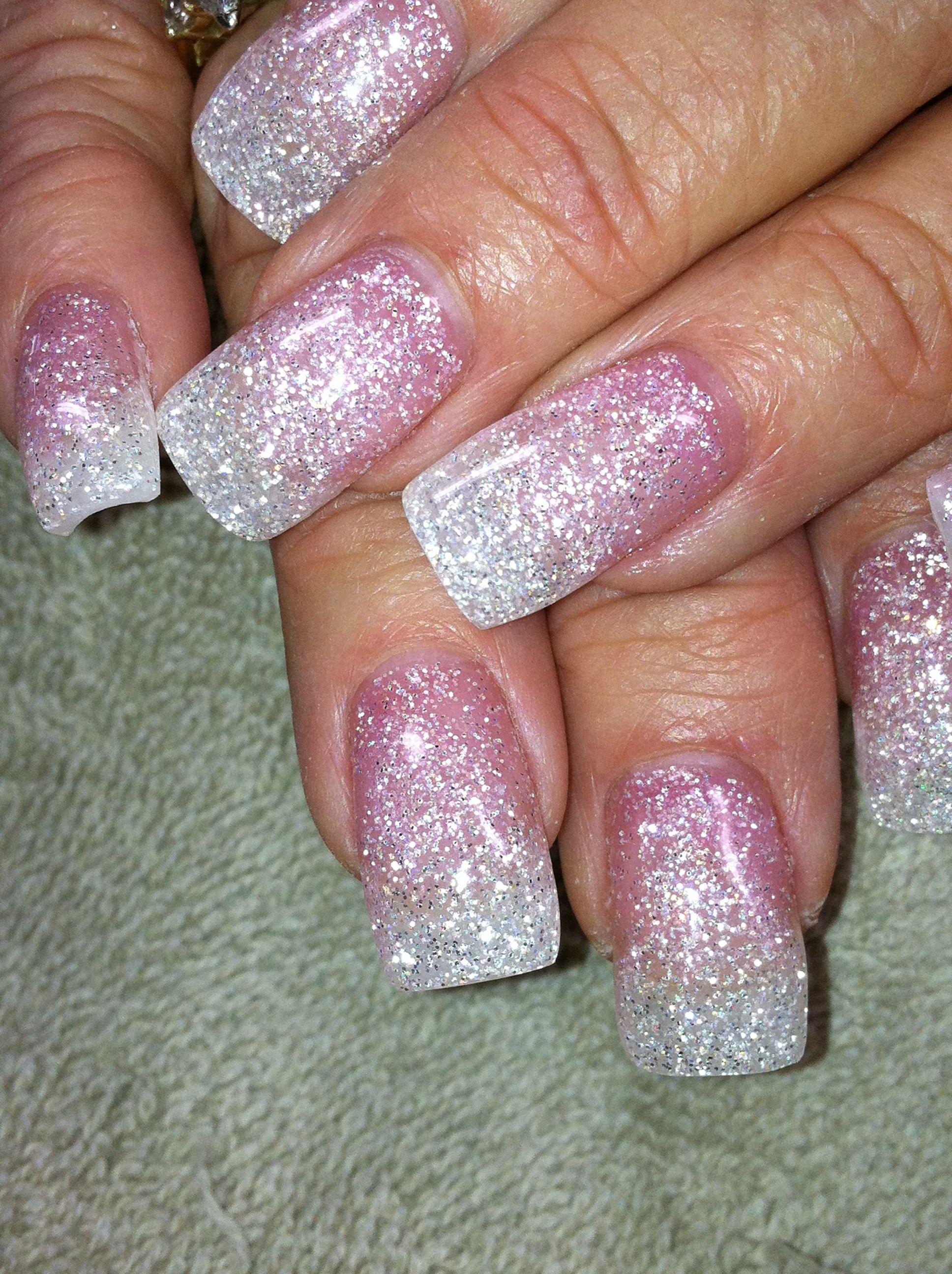 Light Elegance Gel Pink Diamond & White Diamond Www.newnailcreations ...