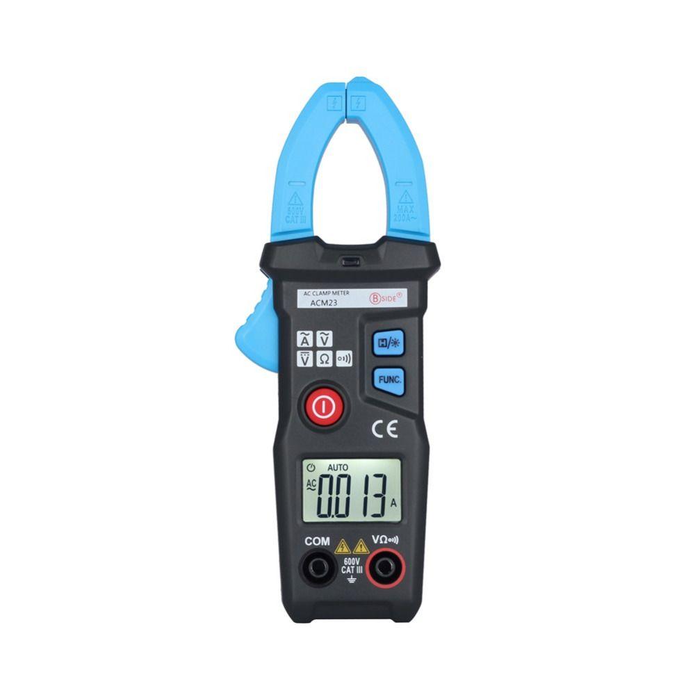 Bside Acm23 Automatic Mini Digital Ac Clamp Meter 6000 Counts 200a A830l Lcd Multimeter Voltmeter Ammeter Ohm Dc Circuit Volt 600v Tester
