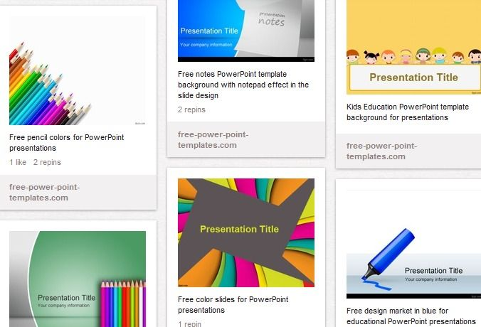 Education PowerPoint Templates - free download