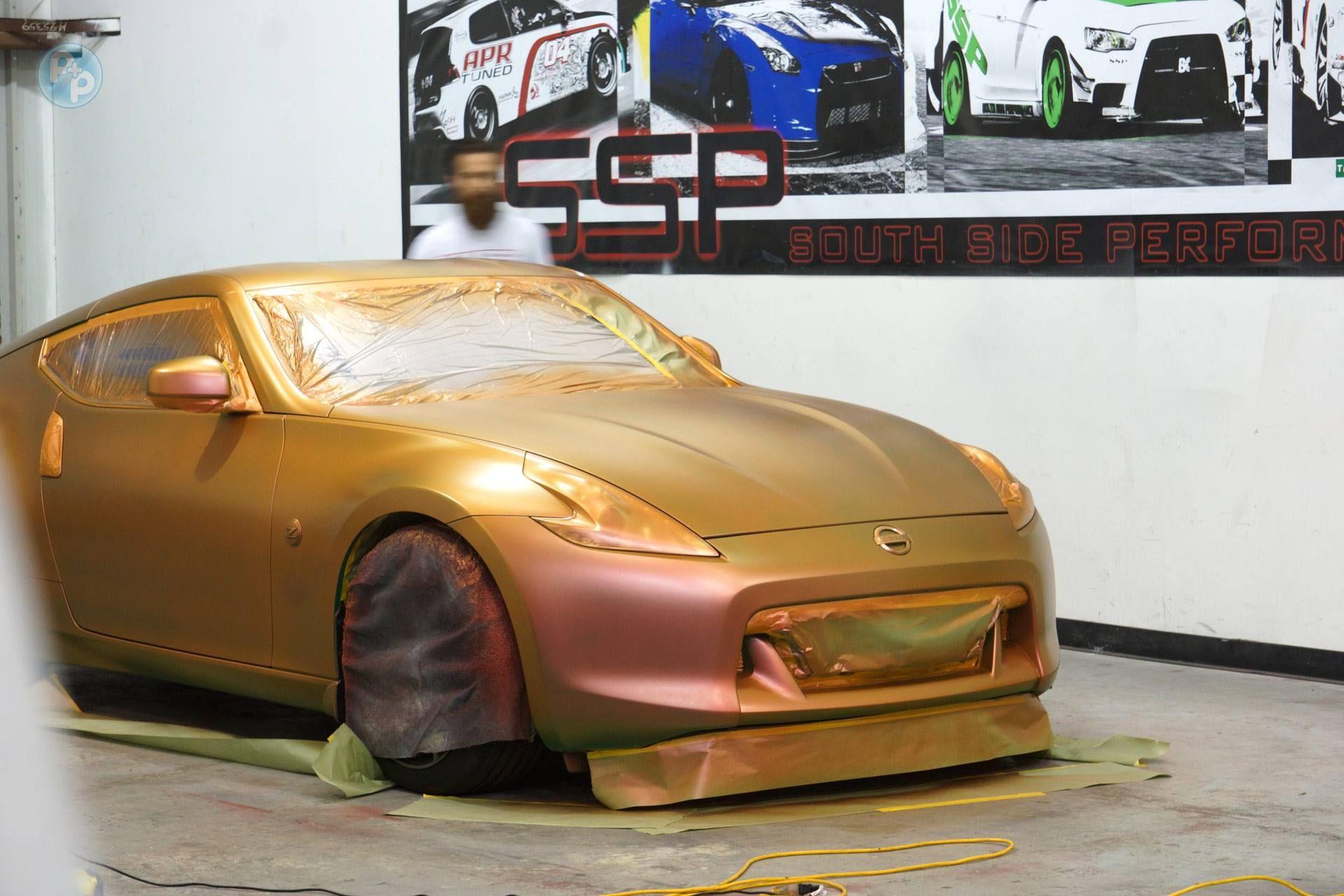 Phoenix Chameleon over a hunter green base coat Car wrap