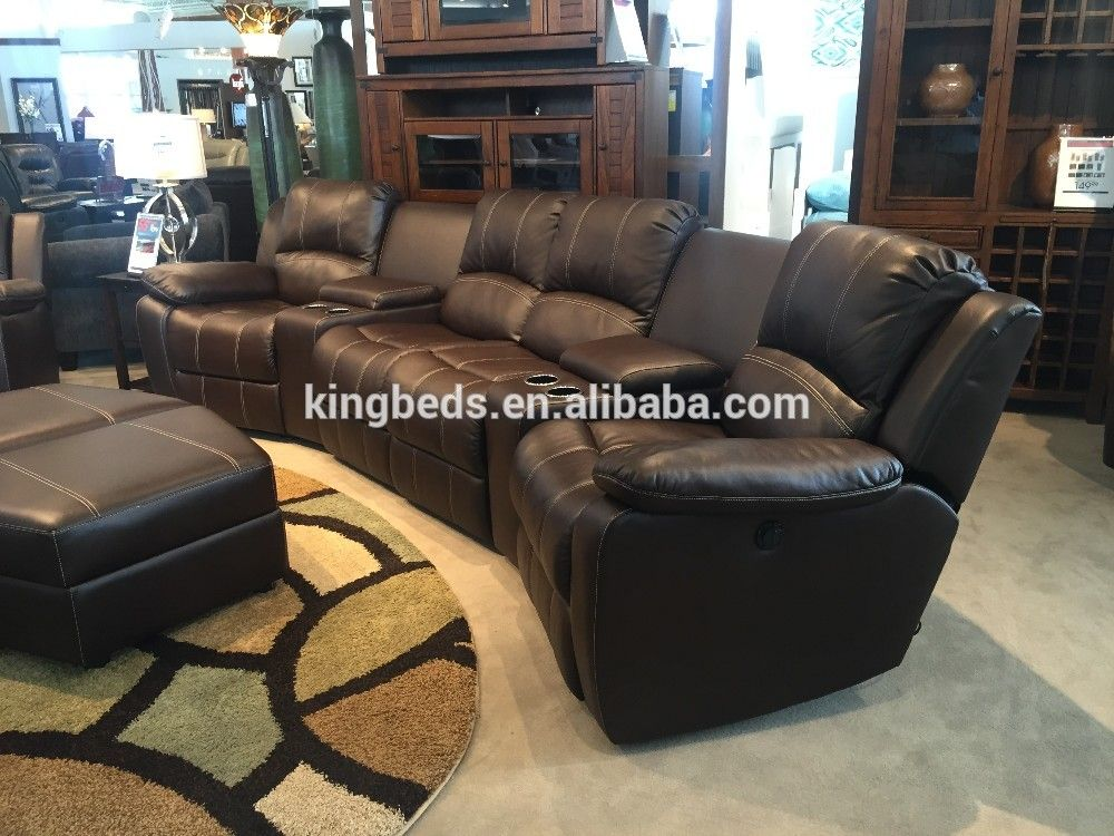 Cinema sofa set leather recliner sofa with cup holder