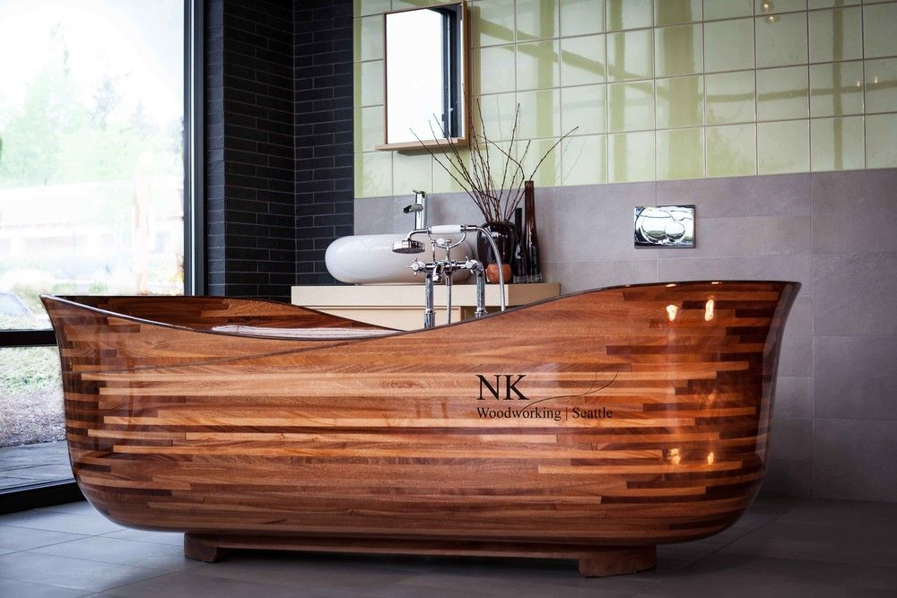 Lotus Wood Bathtub By Nk Woodworking Wooden Bathtub Wooden